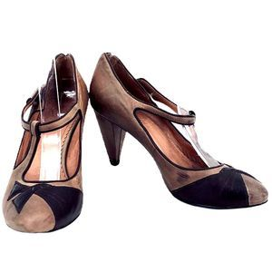 Anthro Miss Albright Amelie Brown Pumps